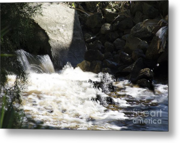 Water Flowing Metal Print