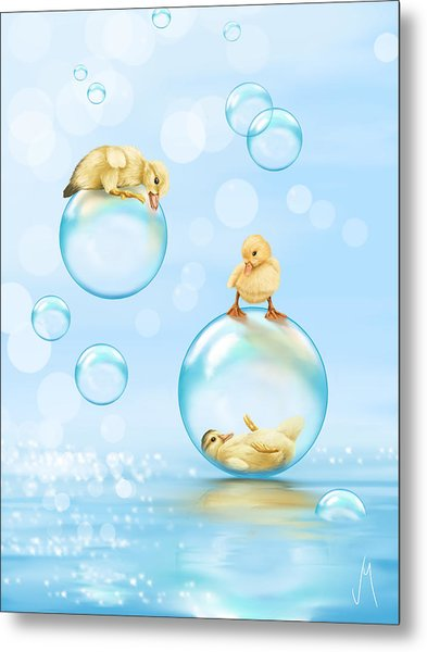 Water Games Metal Print