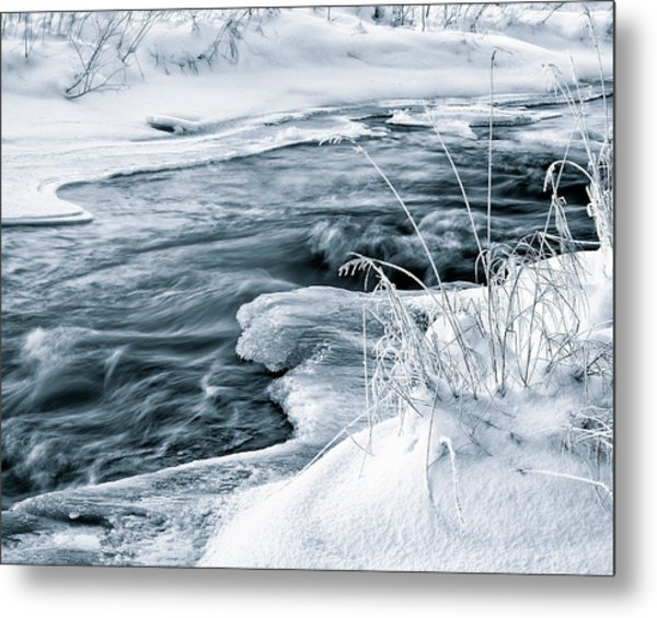 Water, Ice And Snow Metal Print