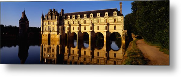 Water In Front Of The Building, Loire Metal Print