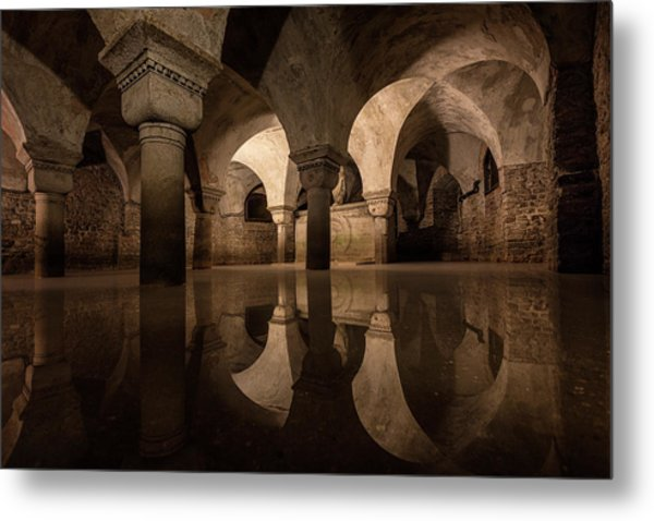 Water In The Crypt Metal Print