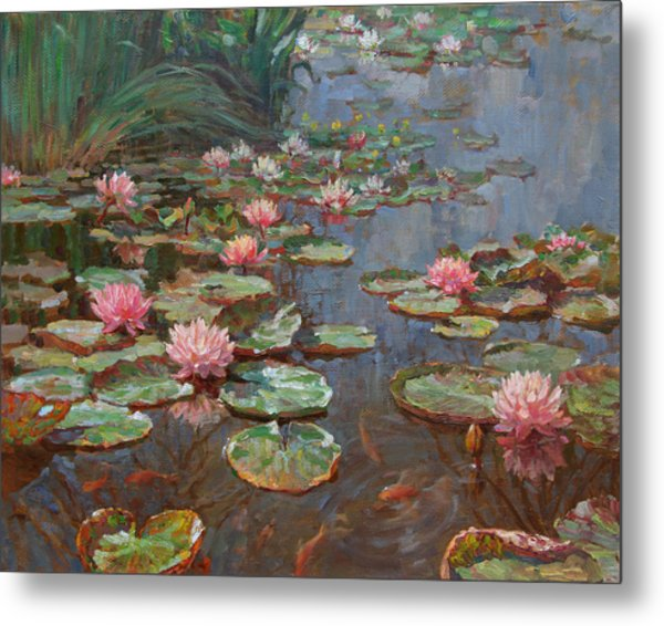 Water Lilies Metal Print by Korobkin Anatoly