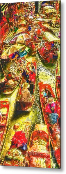 Water Market Metal Print
