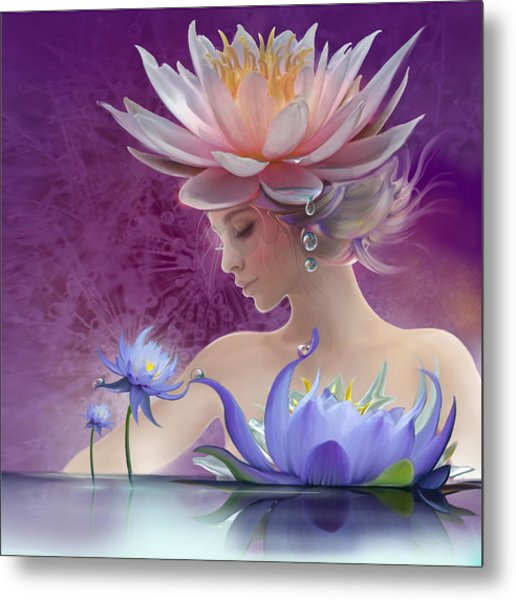 Water Of Life - In Violet Metal Print