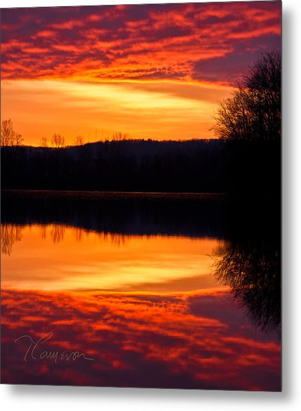 Water On Fire Metal Print