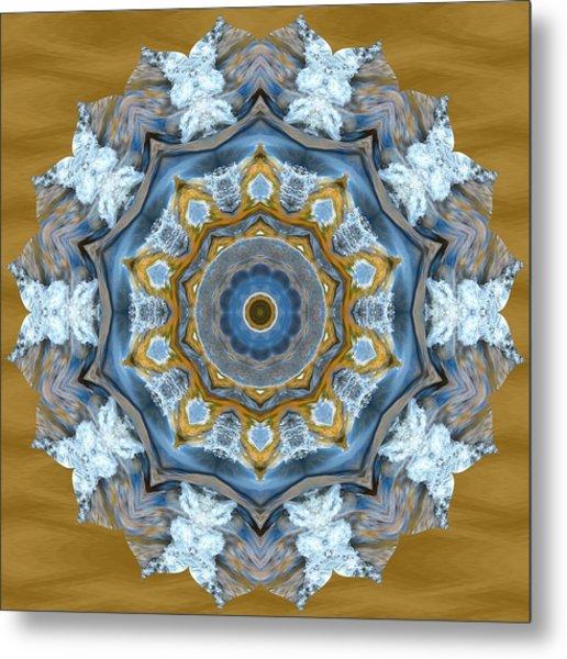 Water Patterns Kaleidoscope Metal Print