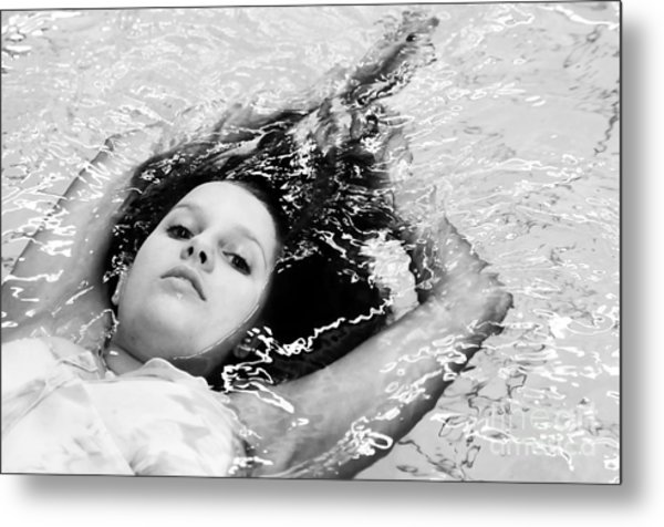 Water Portrait Metal Print