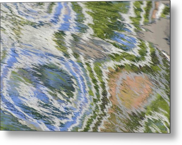 Water Ripples In Blue And Green Metal Print