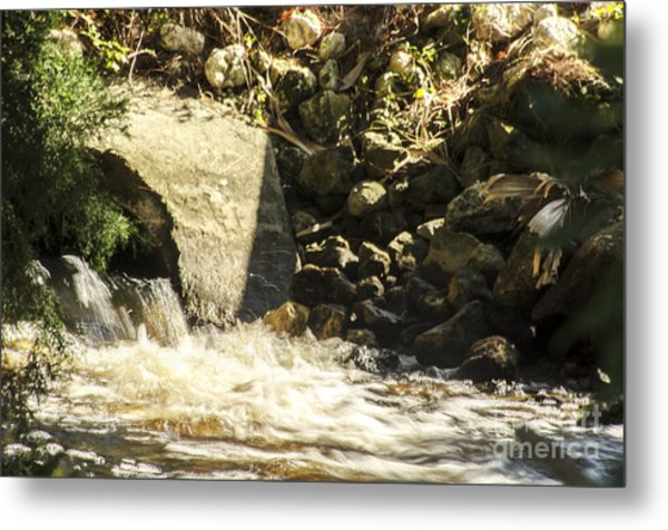Water Rocks Metal Print