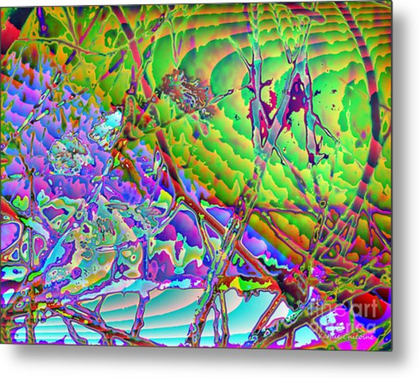 Water Splashed Metal Print