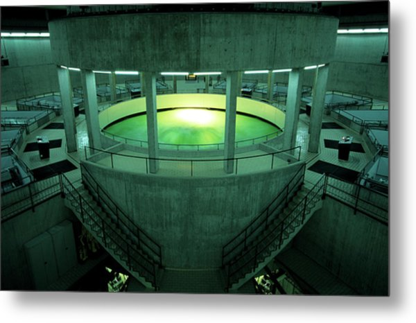 Water Supply Extraction Of Water Metal Print