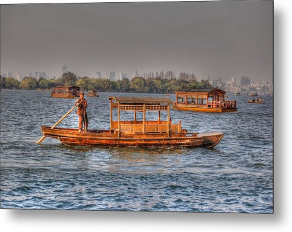 Water Taxi In China Metal Print