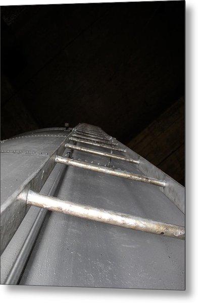 Water Tower Ladder Metal Print