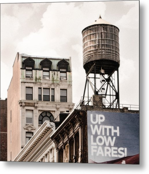 Metal Print featuring the photograph Water Towers 14 - New York City by Gary Heller