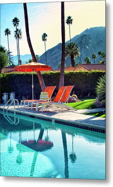 Water Waiting Palm Springs Metal Print
