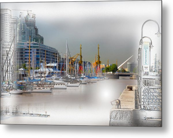 Water Way Buenos Aires Metal Print
