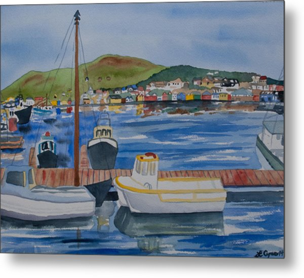 Watercolor - Dingle Ireland Metal Print