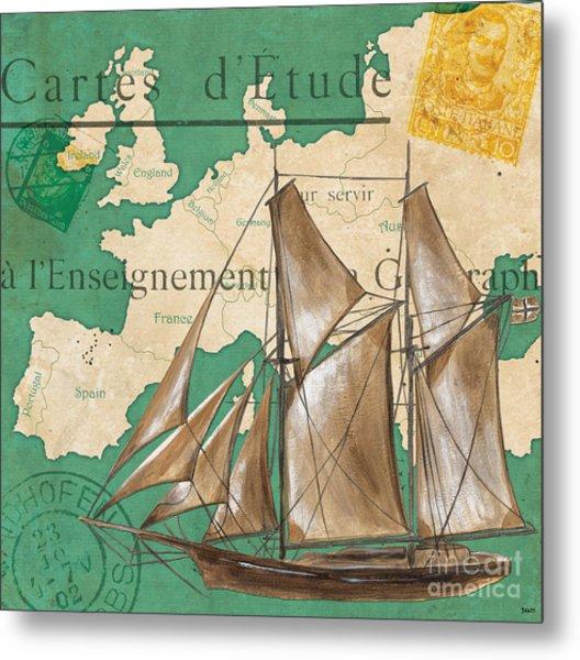 Watercolor Map 1 Metal Print