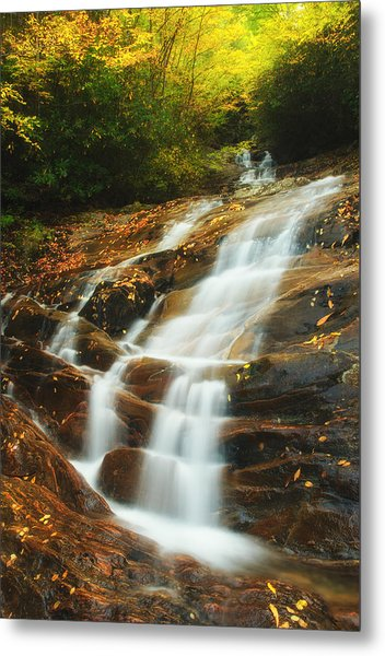 Waterfall @ Sams Branch Metal Print