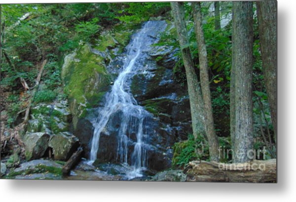 Waterfall At Crabtree Falls Metal Print