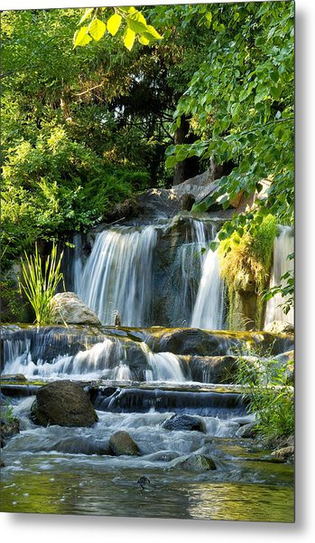 Waterfall At Lake Katherine Metal Print