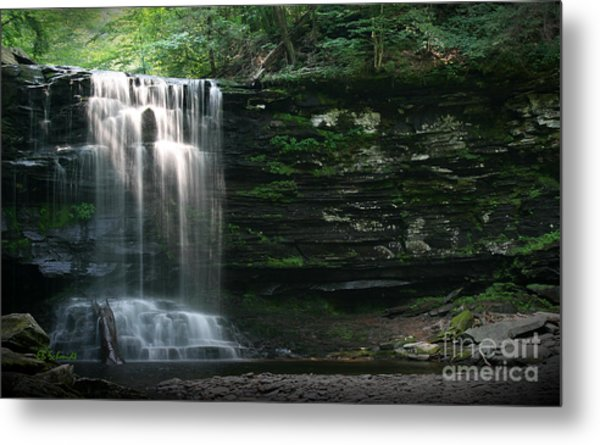 Waterfall At Ricketts Glen Metal Print