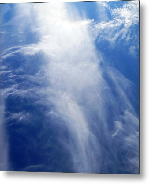 Waterfall In The Sky Metal Print
