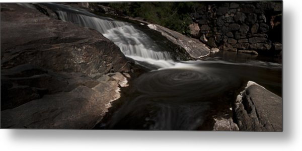 Waterfall Panoramic Metal Print by Michael Murphy