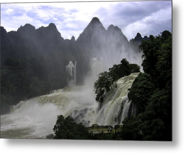 Waterfall Metal Print by Qing