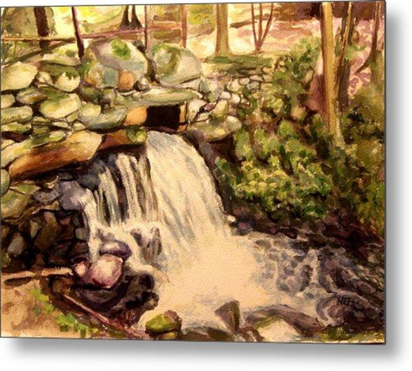 Waterfall Sharon Audubon 12x16 Metal Print