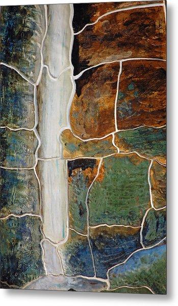 Waterfall Slate Metal Print