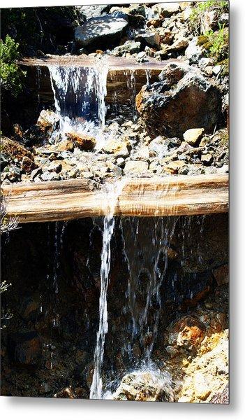Waterfall Steps Metal Print