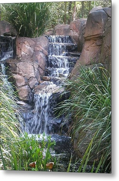 Waterfall Steps Metal Print
