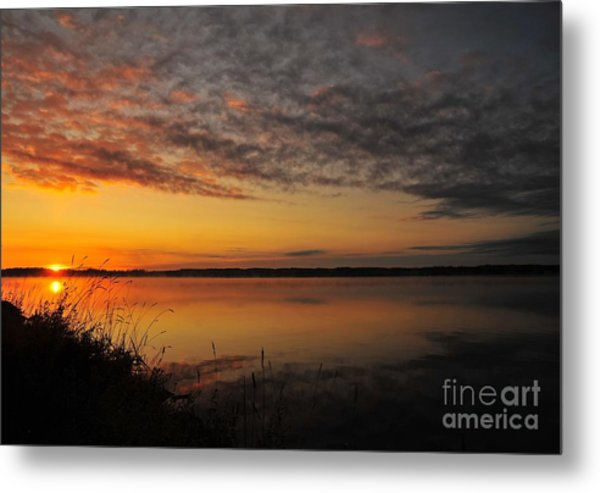 Waterfront Dawn Metal Print
