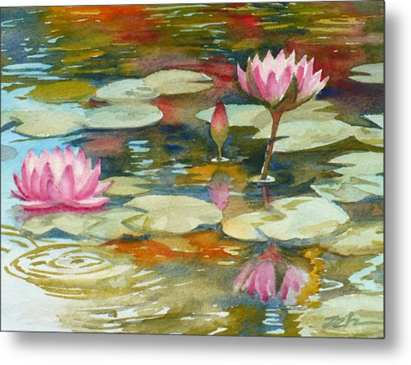 Waterlily Pond Metal Print