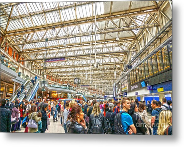Waterloo Station Metal Print