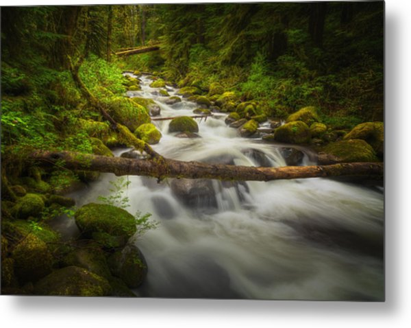 Waters Of Larch Mountain Metal Print by Stuart Deacon