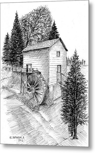 Waterwheel Metal Print