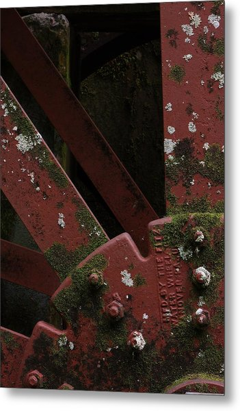 Waterwheel Up Close Metal Print