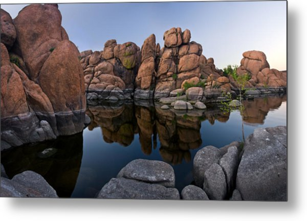 Watson Lake Arizona Reflections Metal Print