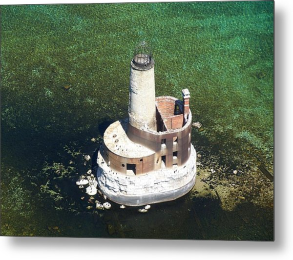 Waugoshance Lighthouse Metal Print