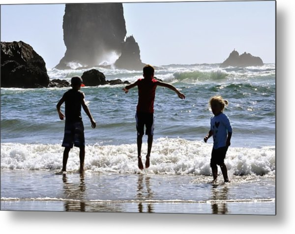 Wave Jumping 25614 Metal Print