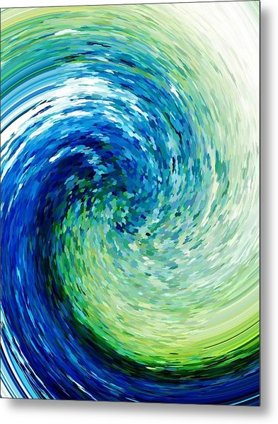 Wave To Van Gogh Metal Print