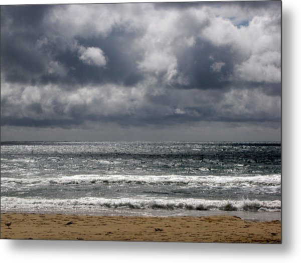 Waves And Beach Metal Print by Karen E Phillips