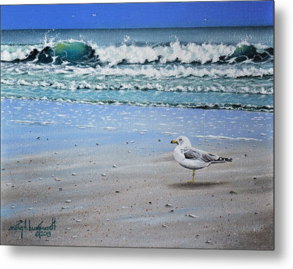 Waves And Rays Metal Print