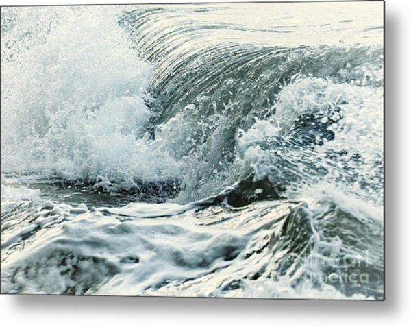 Waves In Stormy Ocean Metal Print