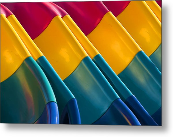 Waves Of Color Metal Print