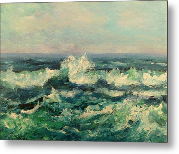 Waves Painting Metal Print