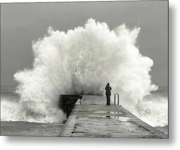 Waves Photographer Metal Print by Mikel Lastra