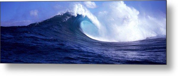 Waves Splashing In The Sea, Maui Metal Print